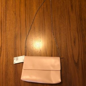 Blush envelope bag with gold chain